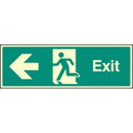 Exit - Left (Rigid Plastic,450 X 150mm)
