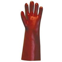 Heavyweight Red PVC Chemical Resistant Gauntlet - 45cm