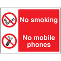 No Smoking No Mobile Phones (Self Adhesive Vinyl,200 X 150mm)