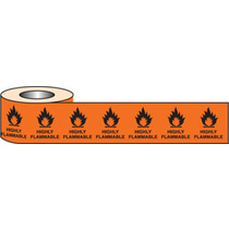 500 S/a Labels 20x20mm Highly Flammable