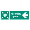 Assembly Point Left (Rigid Plastic,450 X 150mm)