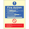 General Fire Action With Lift (Self Adhesive Vinyl,300 X 250mm) (21432H)