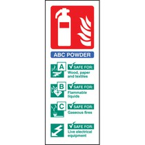 Dry Powder Extinguisher Identification (Rigid Plastic,200 X 75mm)