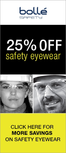 25% Off Bollé Safety Eyewear!