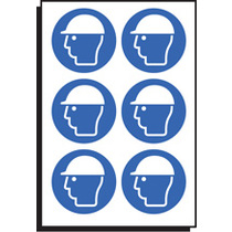 Safety Helmet Symbol Sht Of 6 100mm Dia