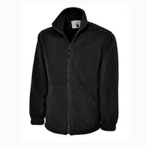 UC601 Premium Heavy Duty Fleece Jacket 380gsm - Black