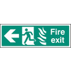 Fire Exit Photo Htm (left) (photo. Self Adhesive Vinyl,300 X 100mm)