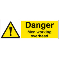 Danger Men Working Overhead (Rigid Plastic,300 X 100mm)