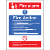 Fire Action/call Point Without Lift (photo. Rigid Plastic,200 X 150mm)