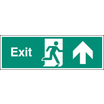 Exit - Straight On (Rigid Plastic,450 X 150mm)
