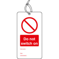 Safety Tag Do Not Switch On Pk Of 10