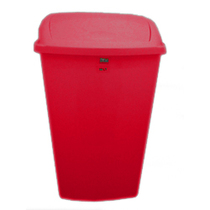 50L Swing-Top Bin Red