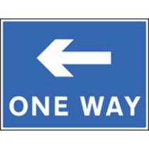 One Way - Left (Rigid Plastic,400 X 300mm)
