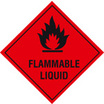Flammable liquid Size: F 200 x 200mm
