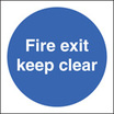 Fire Exit Keep Clear (Self Adhesive Vinyl,400 X 400mm) (21606N)