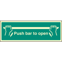 Push Bar To Open (Self Adhesive Vinyl,450 X 150mm) (22052L)