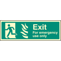 Fire Exit - Emergency Use (photo. Self Adhesive Vinyl,450 X 150mm)