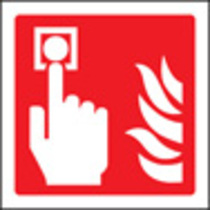 Fire Alarm Call Point Symbol (photo. Rigid Plastic,150 X 150mm)