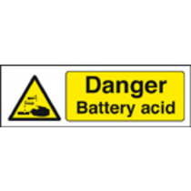 Danger Battery Acid (Self Adhesive Vinyl,300 X 100mm)