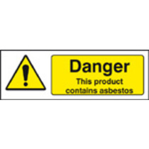 Danger Product Contains Asbestos (Self Adhesive Vinyl,300 X 100mm)