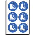Safety Boots Symbol Sht Of 6 100mm Dia