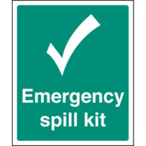 Emergency Spill Kit (Self Adhesive Vinyl,300 X 250mm)