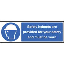 Safety Helmets Provided (Rigid Plastic,300 X 100mm)
