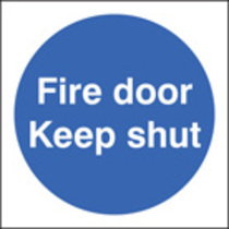 Fire Door Keep Shut (Self Adhesive Vinyl,80 X 80mm) (21610B) (21610B)