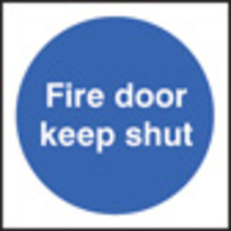 100 S/a Labels 100x100 Fire Door Keep Sh