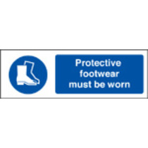 Protective Footwear Must Be Worn (Rigid Plastic,600 X 200mm)