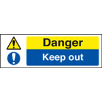 Danger Keep Out (Rigid Plastic,600 X 200mm)