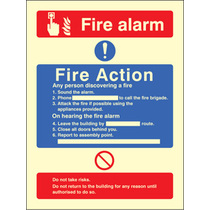 Fire Action/call Point With Lift (Rigid Plastic,300 X 250mm)