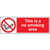 No Smoking Area (Rigid Plastic,600 X 200mm)