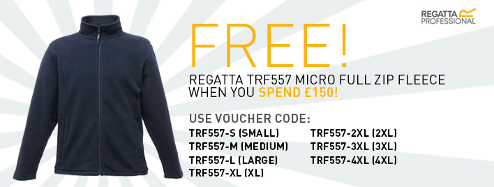 Free TRF557 Fleece when you spend £150!