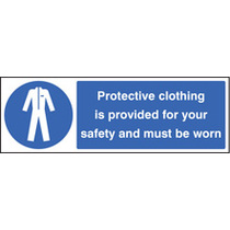 Protective Clothing Provided (Self Adhesive Vinyl,600 X 200mm)