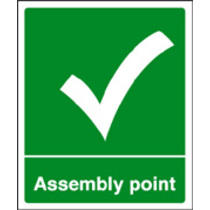 Assembly Point (aluminium,300 X 250mm) (62054H)