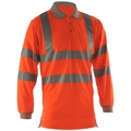 PR470 Hi-Vis Long Sleeve Polo Shirt