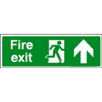 Fire Exit Up (photo. Rigid Plastic,300 X 100mm)