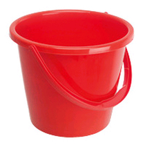 General Purpose 2 Gallon Plastic Bucket - Red