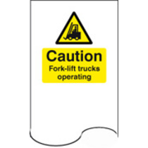 Push Plate Caution Forklift Trucks Oper