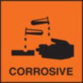 100 S/a Labels 50x50 Corrosive