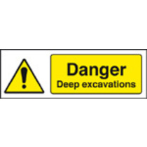 Danger Deep Excavations (Rigid Plastic,600 X 400mm)