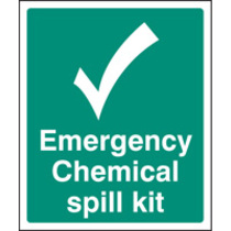 Spill Kit Located At (Self Adhesive Vinyl,300 X 250mm)