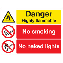 Highly Flammable (Rigid Plastic,400 X 300mm)