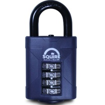 Squire CP50 - Weather Resistant 50mm Combi Padlock - 4 wheel - Open Shackle 50x26mm