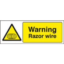 Warning Razor Wire (Self Adhesive Vinyl,300 X 100mm)