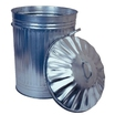 86L Galvanised Stackable Tapered Bin c/w Standard Lid