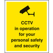 Cctv In Operation For Personal Safety (Self Adhesive Vinyl,300 X 250mm)