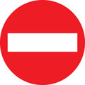 No Entry (Rigid Plastic,400 X 400mm)