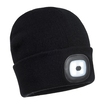 Beanie Hat With Rechargeable Usb Light - Black